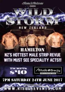 Wild Storm NZ Male Strip Revue - Saturday 24th June @ Altitude