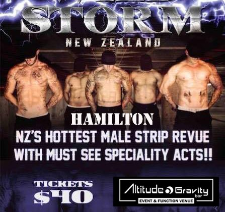 Wild Storm NZ Male Strip Revue – Hamilton!  (24th June)