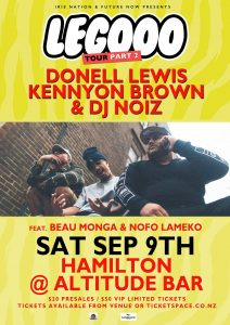 Legooo NZ Tour Part 2 ft. Donell Lewis, Kennyon Brown & DJ Noiz