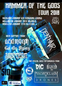 Hammer of the Gods Tour @ Altitude on Saturday 27th January
