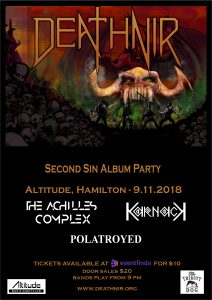 Deathnir - Second Sin Album Party