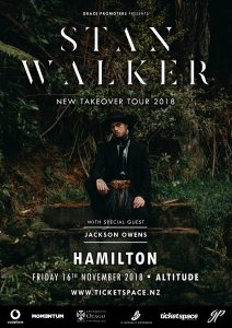Stan Walker New Takeover Tour 2018