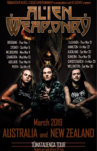Alien Weaponry LIVE at Altitude on Friday 22nd March