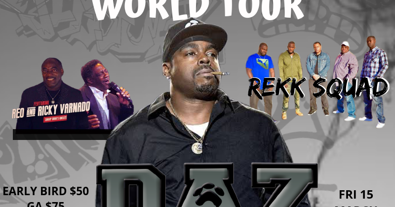 DAZ DILLINGER Snoops Uncs Tour featuring Rekk Squad  (15th Mar)